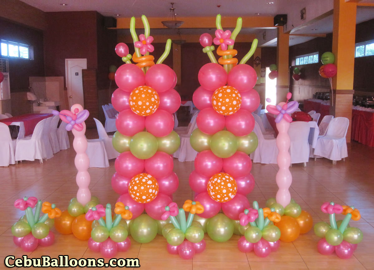 Flowers butterflies cebu balloons and party supplies for Balloon decoration images party